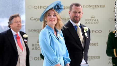 File photo of Peter and Autumn Phillips at Royal Ascot in 2019