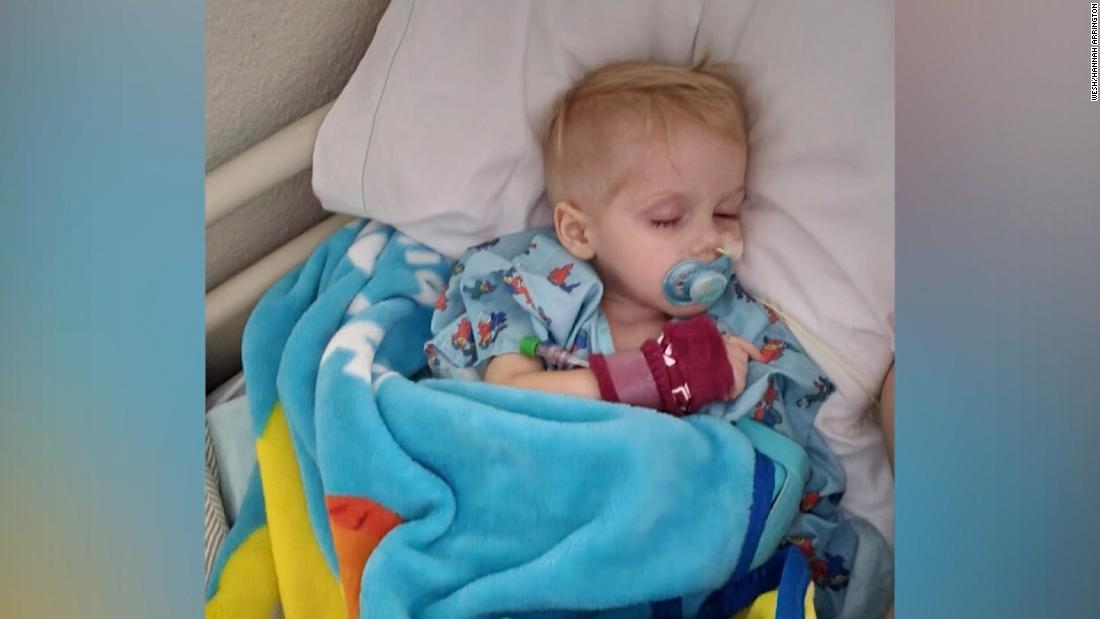 Toddler on a feeding tube after swallowing magnetic balls