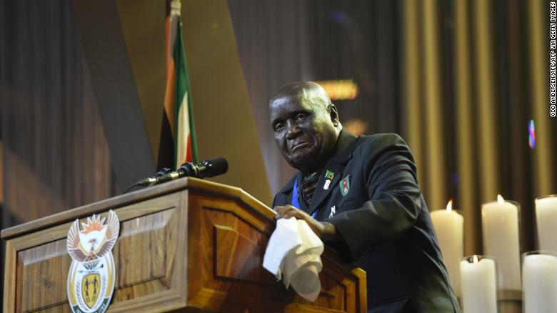 Kenneth Kaunda, Zambia's charismatic first president, is dead at 97