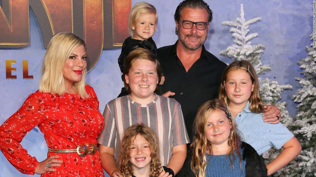 Tori Spelling is co-sleeping with four of her children