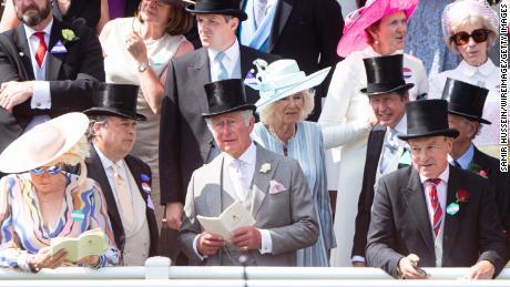 Prince Charles and Camilla amid a sea of guests