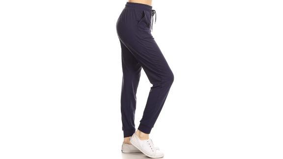 Leggings Depot Women's Jogger Track Cuff Sweatpants