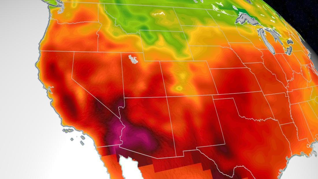 It's so hot in the West this week, it is reaching 100 degrees by 8 a.m.