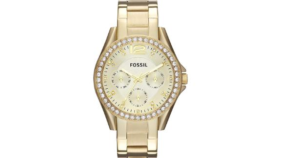 Fossil Women's Riley Stainless Steel Multifunction Glitz Quartz Watch