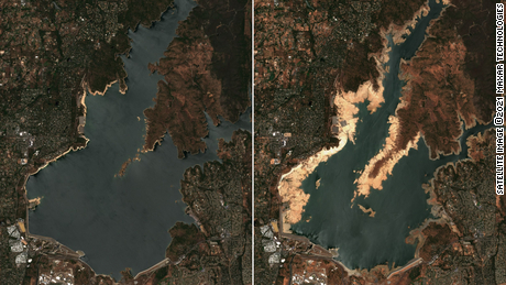 Satellite images show extreme drought drying up California reservoirs