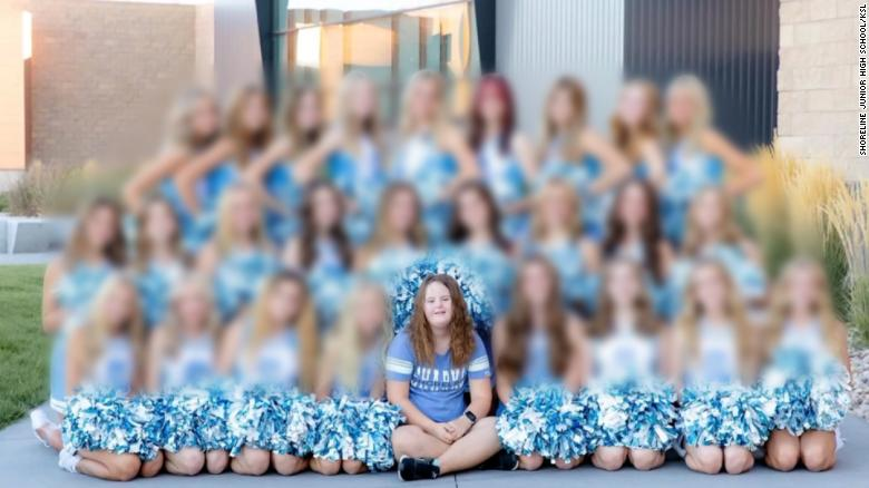 Cheerleading manager with Down syndrome left out of team photo in junior high yearbook