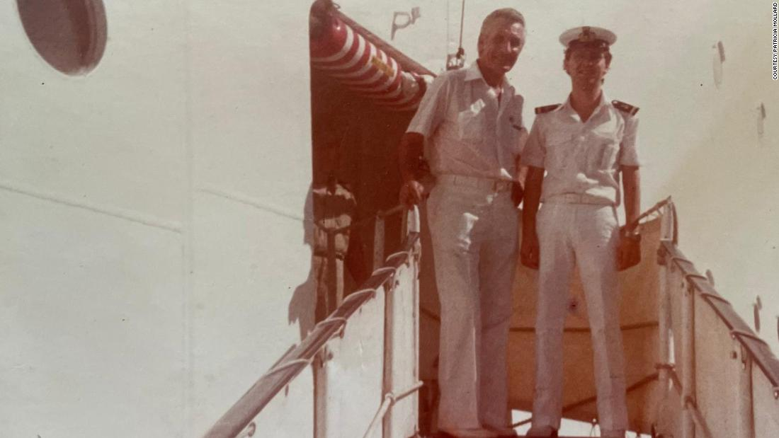 Angelo Capurro as a young officer cadet on the cruise ship Oceanic in the south of Italy in 1978.