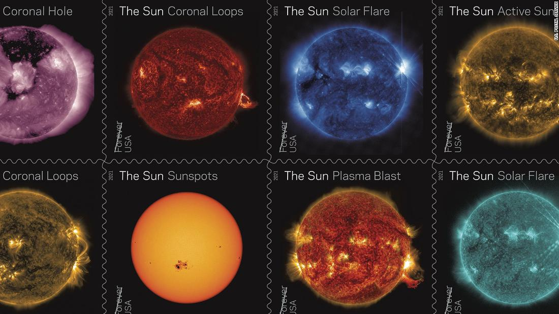 New stamps celebrate a decade of watching the sun from space - CNN