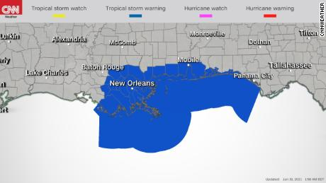 Предупреждение о тропическом шторме для побережья Мексиканского залива