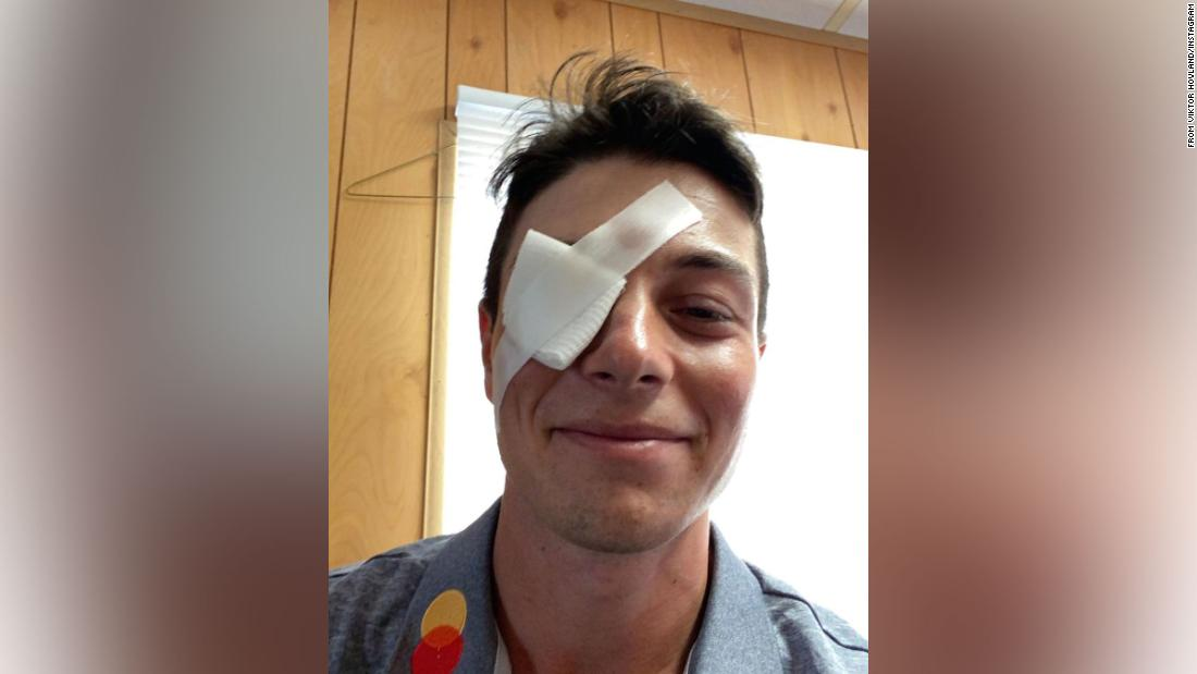 Viktor Hovland forced to withdraw from US Open after getting sand in his eye