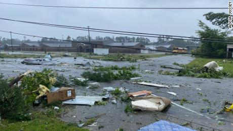 Alicia Jossey shot this photo of damage in Escambia County, Alabama, near the Florida state line.