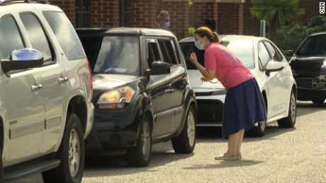 A drive-thru clinic is one way the school district is supporting the vaccination drive.