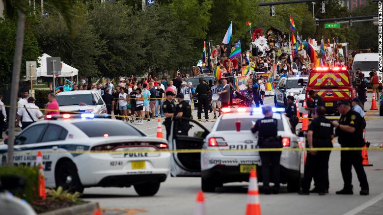 1 person is dead after a truck hit pedestrians at a Florida Pride parade