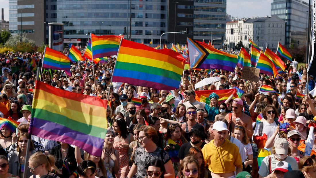 'Homophobia is a huge problem in Poland': Thousands march for LGBT equality