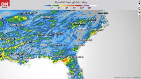 South still faces heavy rains