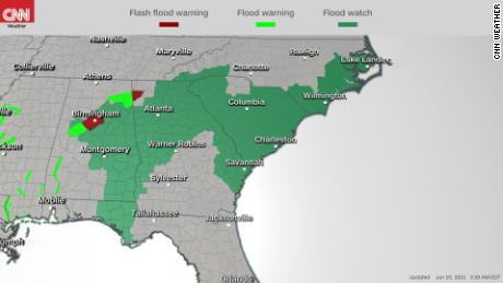 Flood watches and warnings are in effect in several states