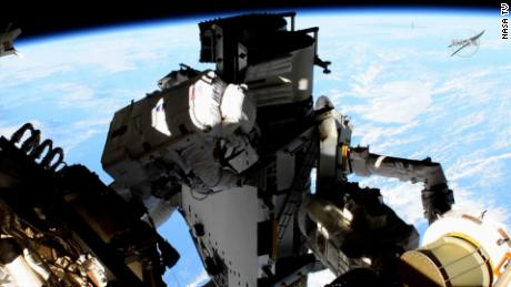 Astronauts install new solar panels in 6-hour spacewalk on International Space Station