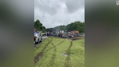 Ten people died in a multi-vehicle crash in Butler County, Alabama on Saturday.