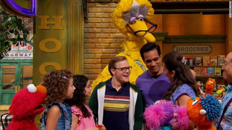 """Here we go: 'Sesame Street' introduces family with two """"gay dads"""" during special Pride Month episode"""