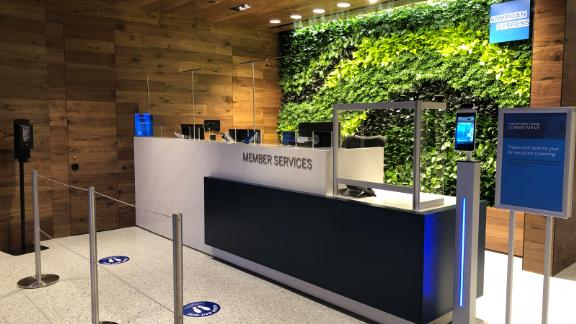 If you've previously visited other Amex Centurion Lounges, you'll recognize the familiar Member Services desk.