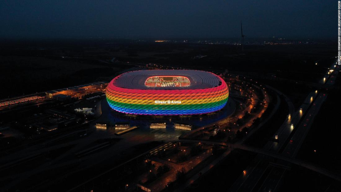 Euro 2020: UEFA facing criticism over its position on rainbow colors ahead of Germany vs. Hungary match