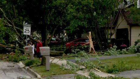 The storm also struck  Bolingbrook, Illinois.