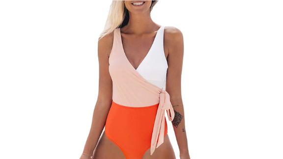 Cupshe One Piece Wrap Swimsuit