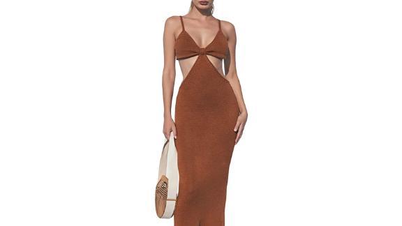 Homelex V-Neck Maxi Knotted Dress
