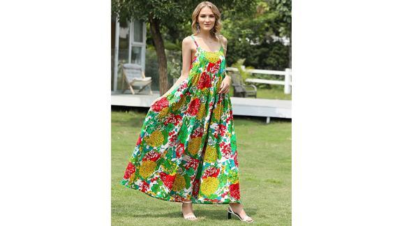 Yesno Bohemian Floral Print Dress
