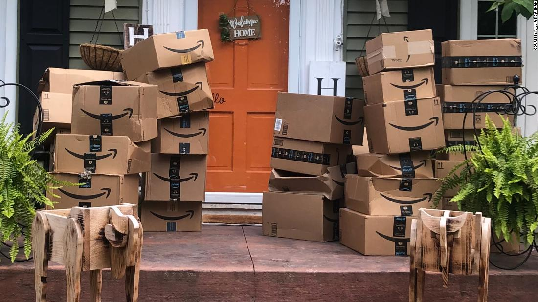 After 150 Amazon packages arrived at a woman's home by mistake, she decided to donate the contents to local hospitals
