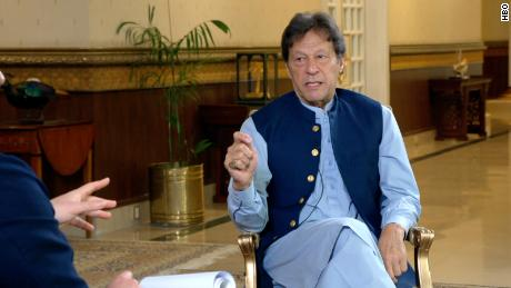 Pakistani Prime Minister Imran Khan speaks to Axios in an interview broadcast on Sunday.