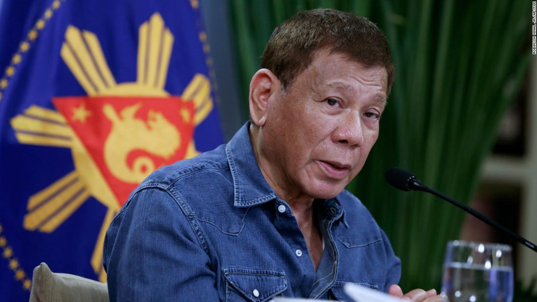Philippine President Rodrigo Duterte threatens to jail those who refuse Covid-19 vaccine
