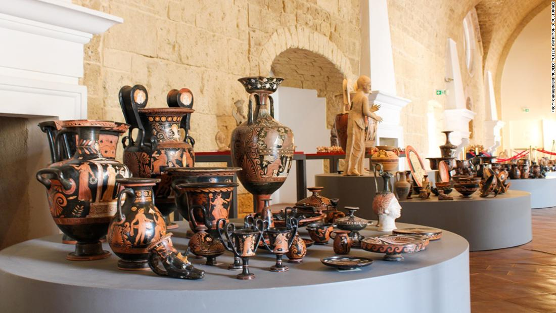 Hundreds of stolen artifacts recovered in Italy