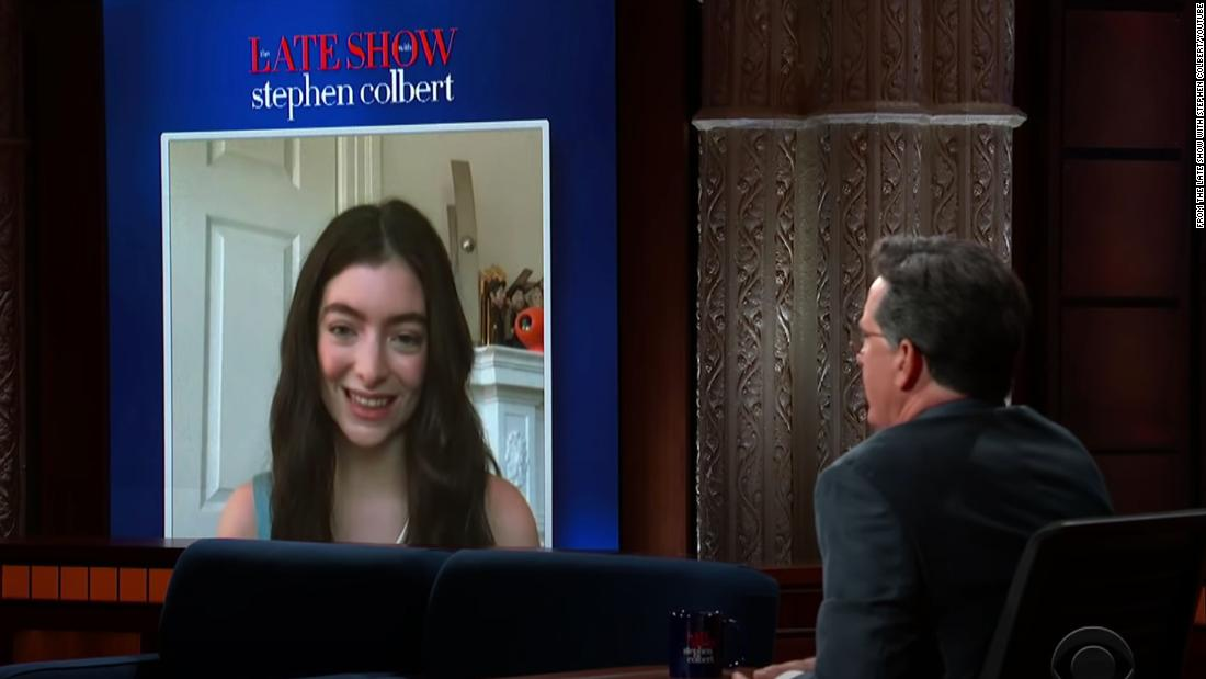 Lorde talks about her new album on 'The Late Show With Stephen Colbert'