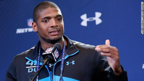 Michael Sam never played in the NFL after he was drafted by the St. Louis Rams.