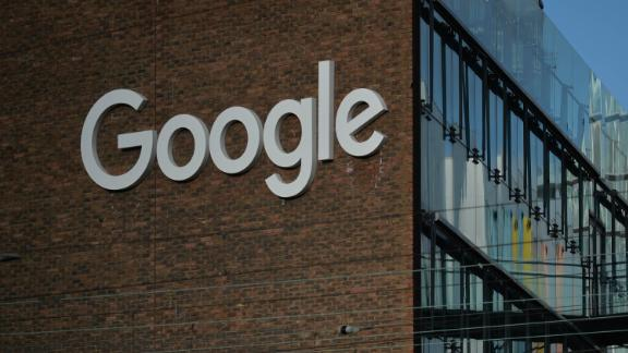 A view of Google logo on a Google building GRCQ1 in Dublin's Grand Canal area, during Level 5 Covid-19 lockdown.  On Friday, 22 January, 2021, in Dublin, Ireland. (Photo by Artur Widak/NurPhoto via Getty Images)