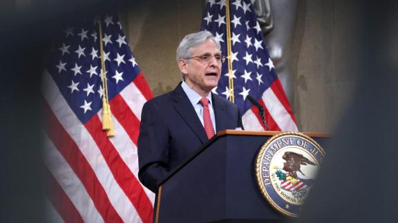 US Attorney General Merrick Garland speaks during an event at the Justice Department on June 15, 2021 in Washington, DC.