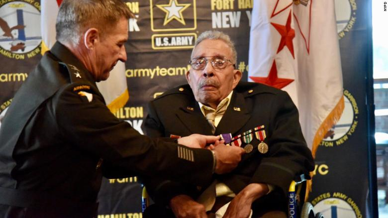 A Black WWII veteran who was denied the Purple Heart due to racism finally receives the honor at 99