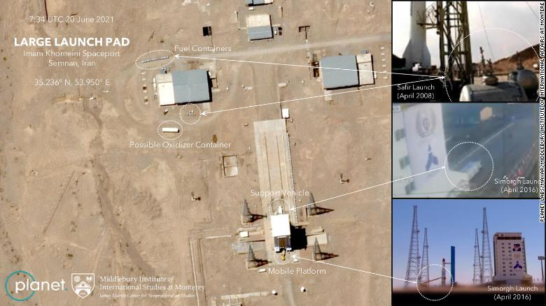 Pentagon tracked failed Iranian satellite launch, as images reveal Tehran is set to try again