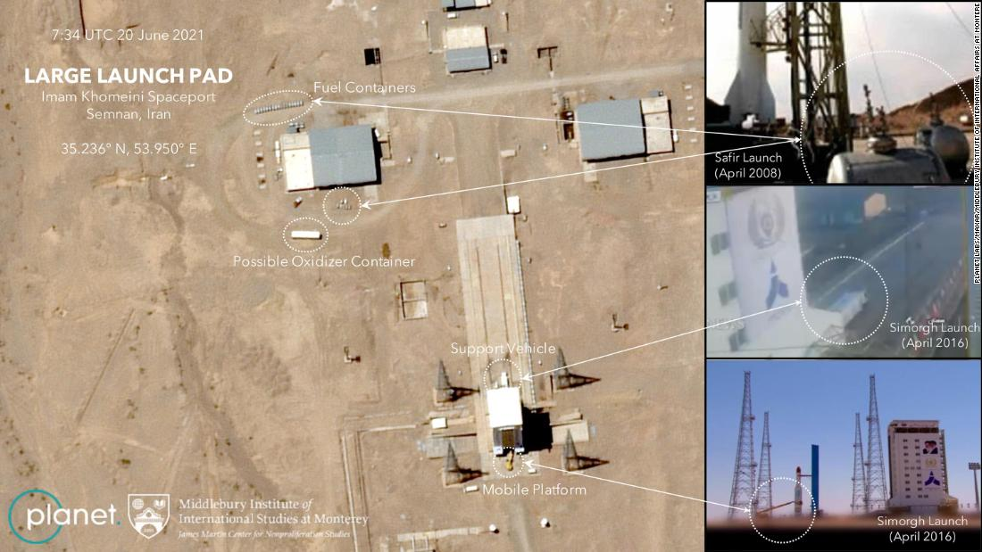 Pentagon tracked failed Iranian satellite launch and new images reveal Tehran is set to try again