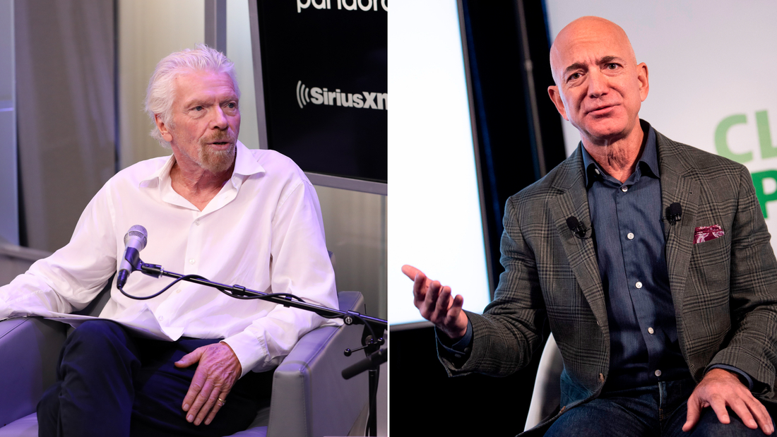 Billionaires race to be first in space