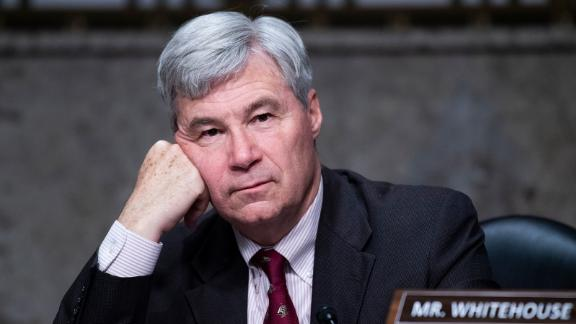 WASHINGTON, DC - APRIL 28: Sen. Sheldon Whitehouse, D-R.I., attends the Senate Judiciary Committee confirmation hearing in Dirksen Senate Office Building on April 28, 2021 in Washington, DC. Ketanji Brown Jackson, nominee to be U.S. Circuit Judge for the District of Columbia Circuit, and Candace Jackson-Akiwumi, nominee to be U.S. Circuit Judge for the Seventh Circuit, testified on the first panel. (Photo By Tom Williams-Pool/Getty Images)