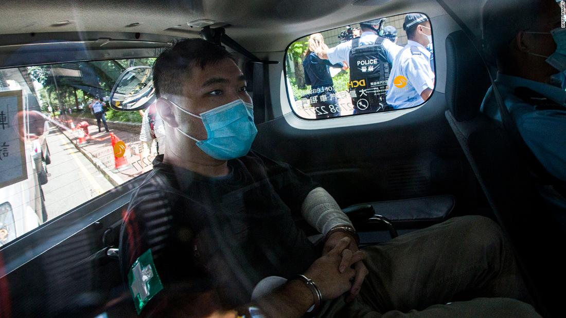 First person charged under Hong Kong national security law found guilty on two charges