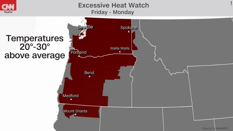 Pacific Northwest expected to endure oppressive heat this weekend amid the West's drought misery