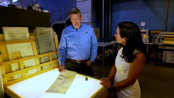 CNN's Kyung Lah speaks to a ballot paper maker in Arizona