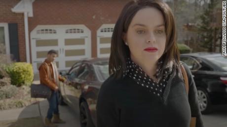 """A scene from the """"Karen"""" trailer."""