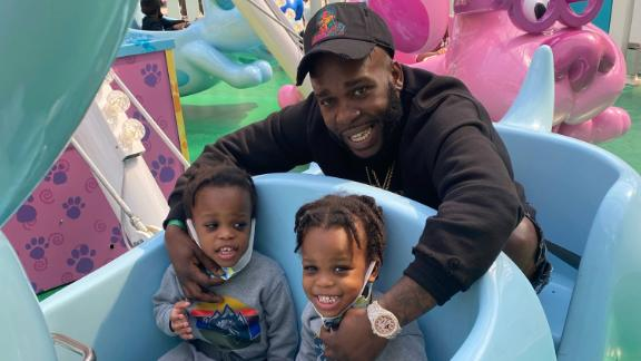 Milton Grant and his twin boys.