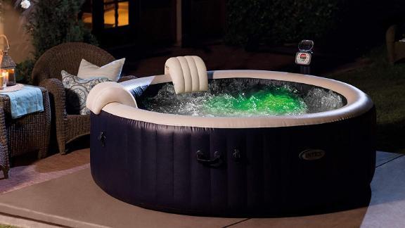 Intex PureSpa 6-Person 290-Gallon Outdoor Bubble Hot Tub