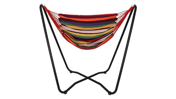 Sunnydaze Beach Oasis Hammock Chair Swing and Stand