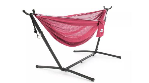 Vivere Mesh Double Hammock and Stand